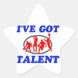 i'v got basketball talent design star sticker