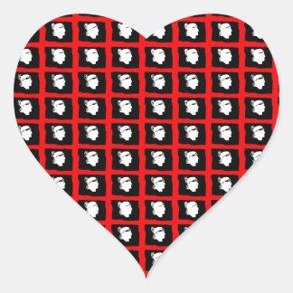 IV - ¡Impresión de Sardegna IV Mori! Pegatina En Forma De Corazón