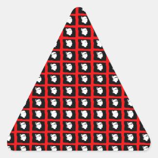 IV - ¡Impresión de Sardegna IV Mori! Pegatina Triangular