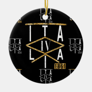 IV - Italia Gold Christmas Ornaments