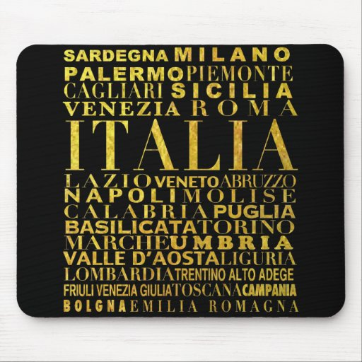 IV - ITALIA UNITA black Mousepad