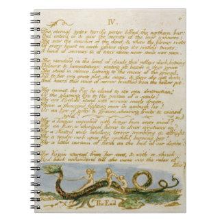 """IV/las puertas eternas…"", platea 8 'del abucheo Spiral Notebooks"