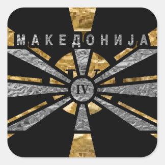 IV - Macedonia Pegatina Cuadrada