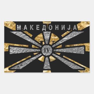 IV - Macedonia Pegatina Rectangular