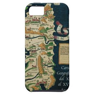 IV mapa del vintage de Sardegna Funda Para iPhone SE/5/5s