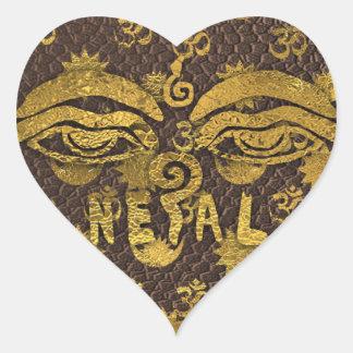 IV - NEPAL HEART STICKER