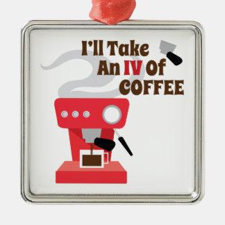 IV Of Coffee Metal Ornament
