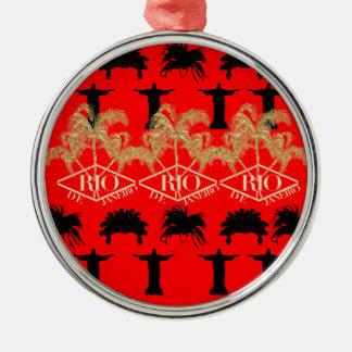 IV - Rio De Janeiro Round Metal Christmas Ornament