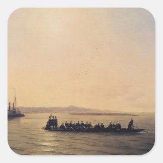 Ivan Aivazovsky- Alexander II Crossing the Danube Sticker