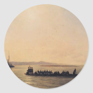 Ivan Aivazovsky- Alexander II Crossing the Danube Stickers