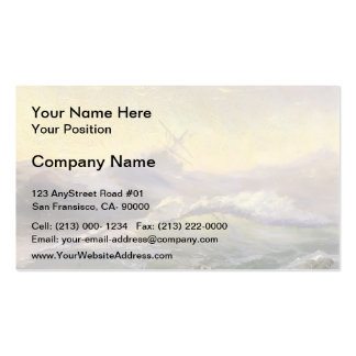 Ivan Aivazovsky- Bracing The Waves Business Card Templates