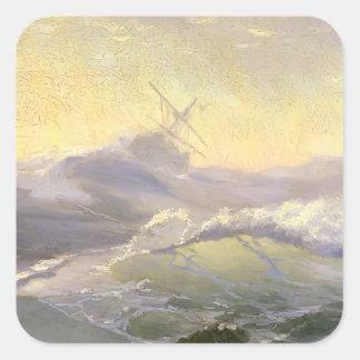 Ivan Aivazovsky- Bracing The Waves Sticker