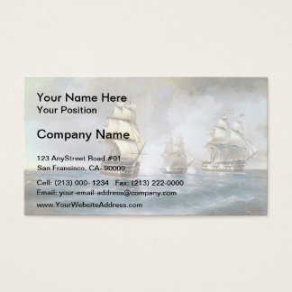 Ivan Aivazovsky- Brig Mercury Attacked by Ships Business Card