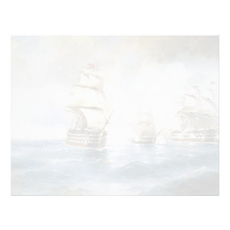 Ivan Aivazovsky- Brig Mercury Attacked by Ships Personalized Letterhead