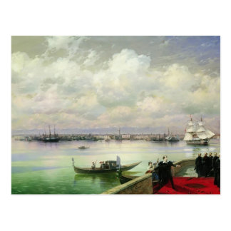 Ivan Aivazovsky- Byron visiting mhitarists Postcard