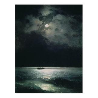 Ivan Aivazovsky- el Mar Negro en la noche Tarjeta Postal