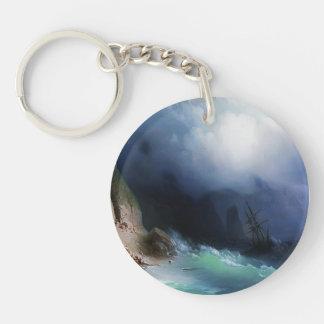 Ivan Aivazovsky- el naufragio cerca de rocas Llavero