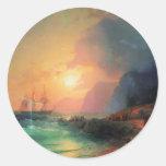 Ivan Aivazovsky- en la isla de Creta Pegatinas Redondas