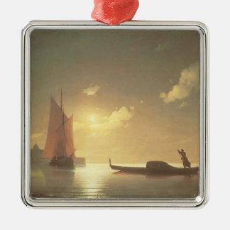 Ivan Aivazovsky- Gondolier at Sea by Night Christmas Ornaments