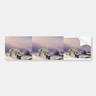 Ivan Aivazovsky- Ice Breakers on the Frozen Neva Bumper Stickers