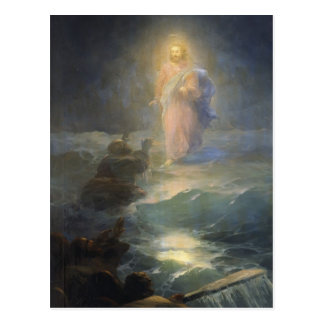 Ivan Aivazovsky- Jesus walks on water Postcard
