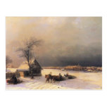 Ivan Aivazovsky- Moscow in Winter, Sparrow Hills Postcard