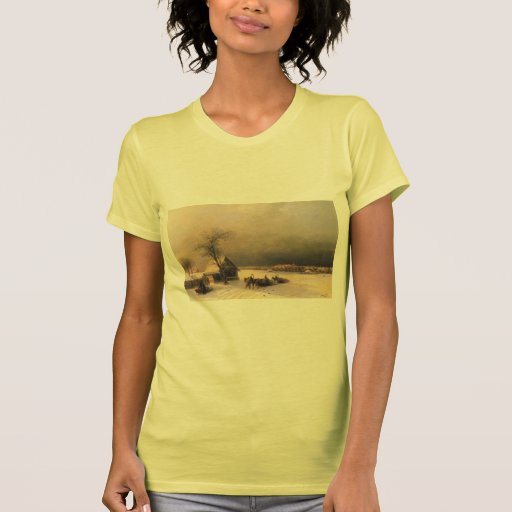 Ivan Aivazovsky- Moscow in Winter, Sparrow Hills T-shirts
