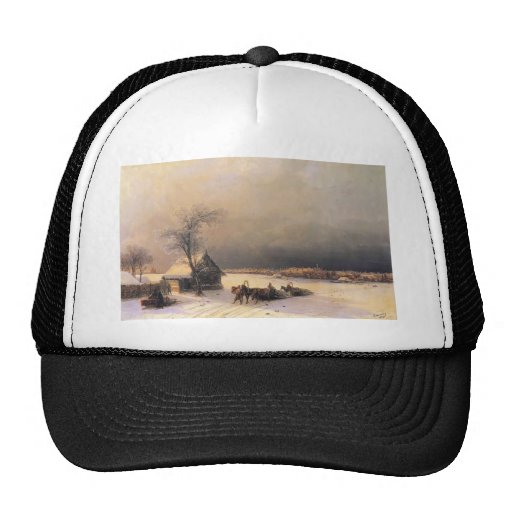 Ivan Aivazovsky- Moscú en invierno, colinas del go Gorras