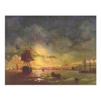 Ivan Aivazovsky- Odessa en la noche Postales