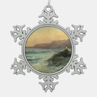 Ivan Aivazovsky- Pushkin en la costa el Mar Negro Adorno