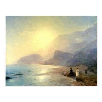 Ivan Aivazovsky- Pushkin y condesa Raevskaya Postal