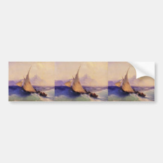 Ivan Aivazovsky- Rescue at Sea Car Bumper Sticker