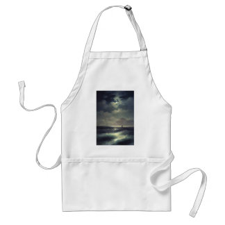Ivan Aivazovsky- Sea view by Moonlight Adult Apron