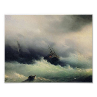 Ivan Aivazovsky- Ships in a Storm Posters