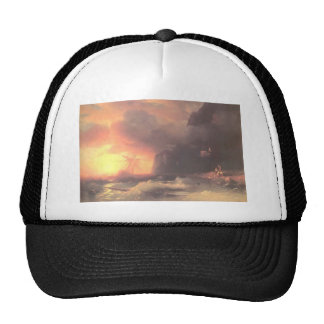 Ivan Aivazovsky- Shipwreck near mountain of Aphon Trucker Hats