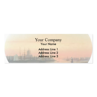 Ivan Aivazovsky- Smolny Convent Sunseat Double-Sided Mini Business Cards (Pack Of 20)