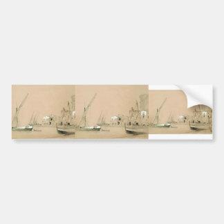 Ivan Aivazovsky- Sorrento. Opinión del mar Etiqueta De Parachoque
