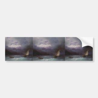 Ivan Aivazovsky- Stormy Sea Car Bumper Sticker