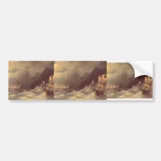 Ivan Aivazovsky- Tempest Car Bumper Sticker