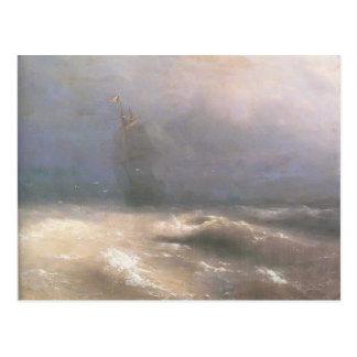 Ivan Aivazovsky- Tempest by coast of Nice Postcard