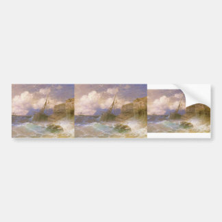 Ivan Aivazovsky- Tempest by coast of Odessa Car Bumper Sticker