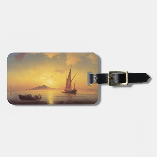 Ivan Aivazovsky- The Bay of Naples Tags For Luggage
