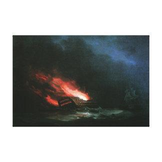 "Ivan Aivazovsky ""The Burning Ship"" Canvas Print"