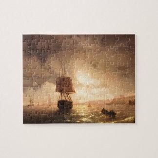 Ivan Aivazovsky- The Harbor At Odessa On Black Sea Puzzles