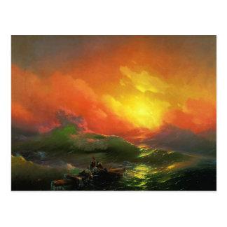 Ivan Aivazovsky - The ninth wave Postcard