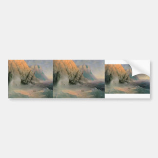 Ivan Aivazovsky- The Shipwreck Car Bumper Sticker
