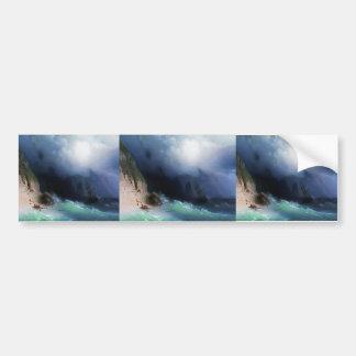 Ivan Aivazovsky- The Shipwreck near rocks Car Bumper Sticker