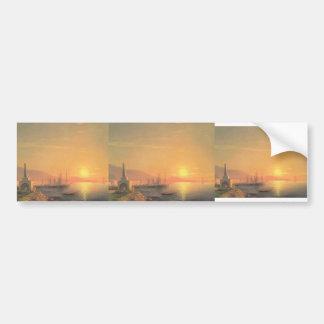 Ivan Aivazovsky- The Sunrize in Feodosiya Bumper Stickers