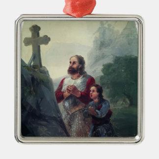 Ivan Aivazovsky- The vow before Avaraisk battle Christmas Tree Ornaments