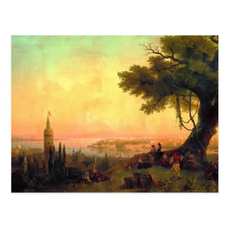 Ivan Aivazovsky- View of Constantinople by light Postcard